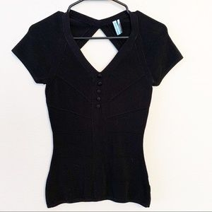 Guess Marciano Bandage Knit Cutout Top Sexy Party